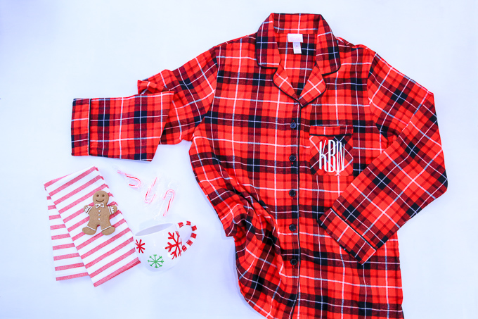 How To Make Christmas PJs With Monogram