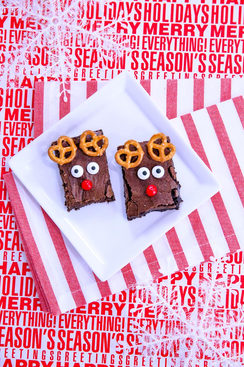 Brownie Reindeer Treats