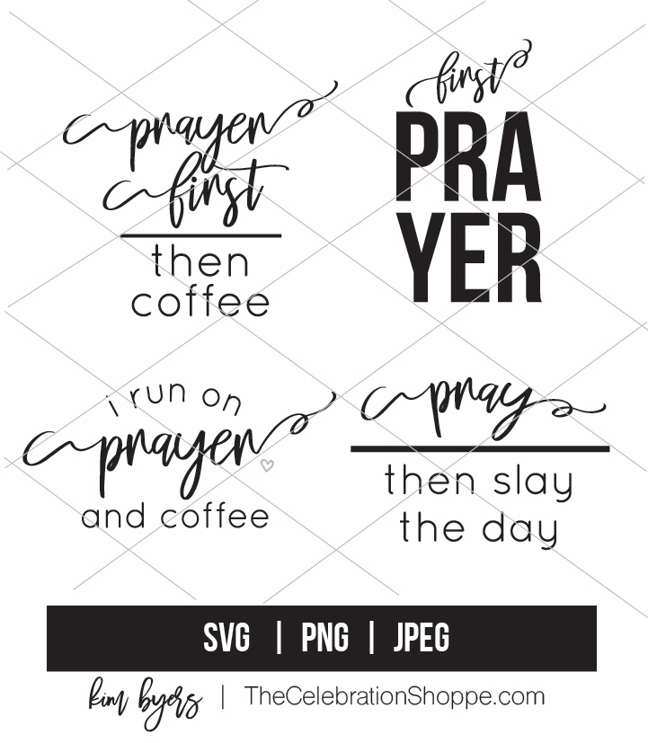 Prayer first svg bundle kim byers