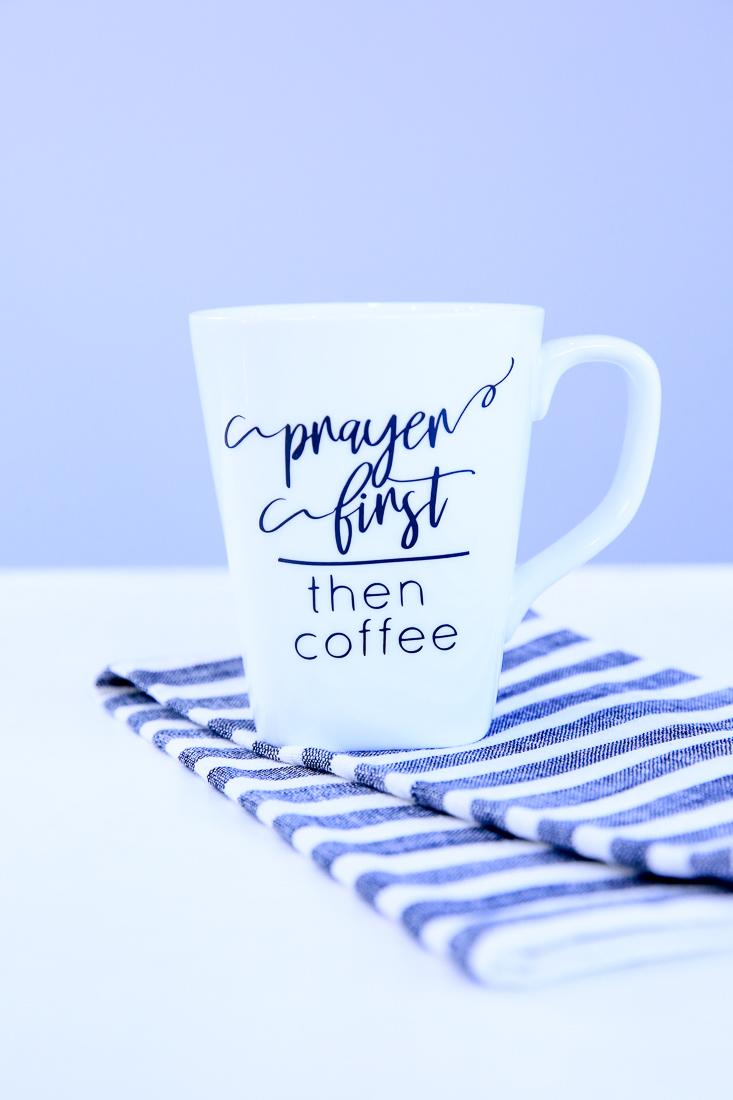 Prayer First Then Coffee SVG   Christian Gifts   Kim Byers