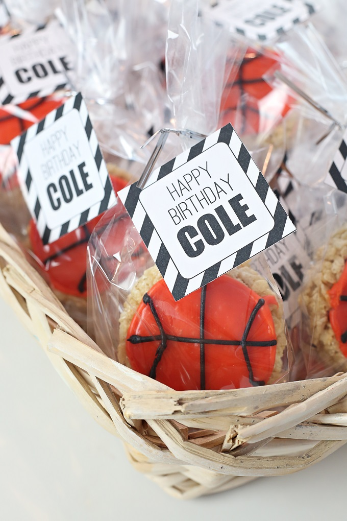 March Madness Rice Krispies Basketball Treats | Fun foods with Kim Byers
