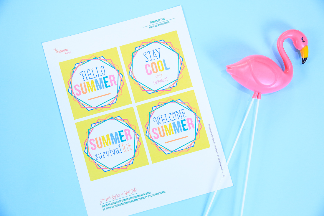 Summer Gift Basket Tags | Crafting with Kim Byers at The Celebration Shoppe