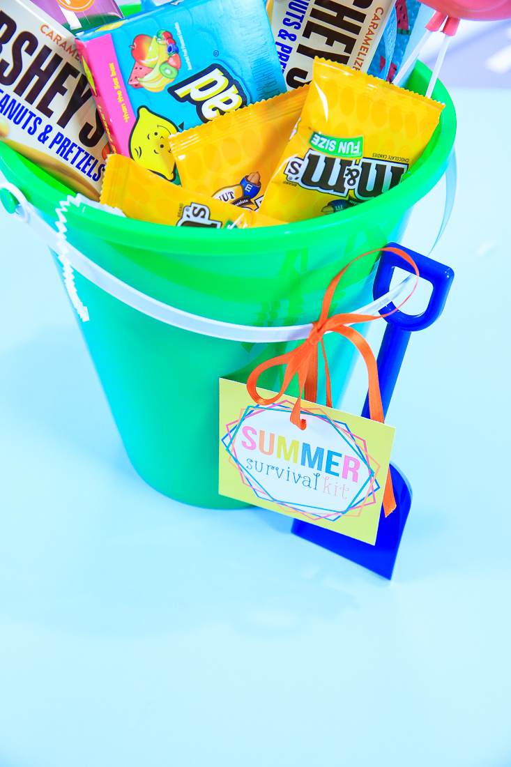 Let's make a Summer Survival Gift Basket with my free gift tags | Crafting with Kim Byers at The Celebration Shoppe