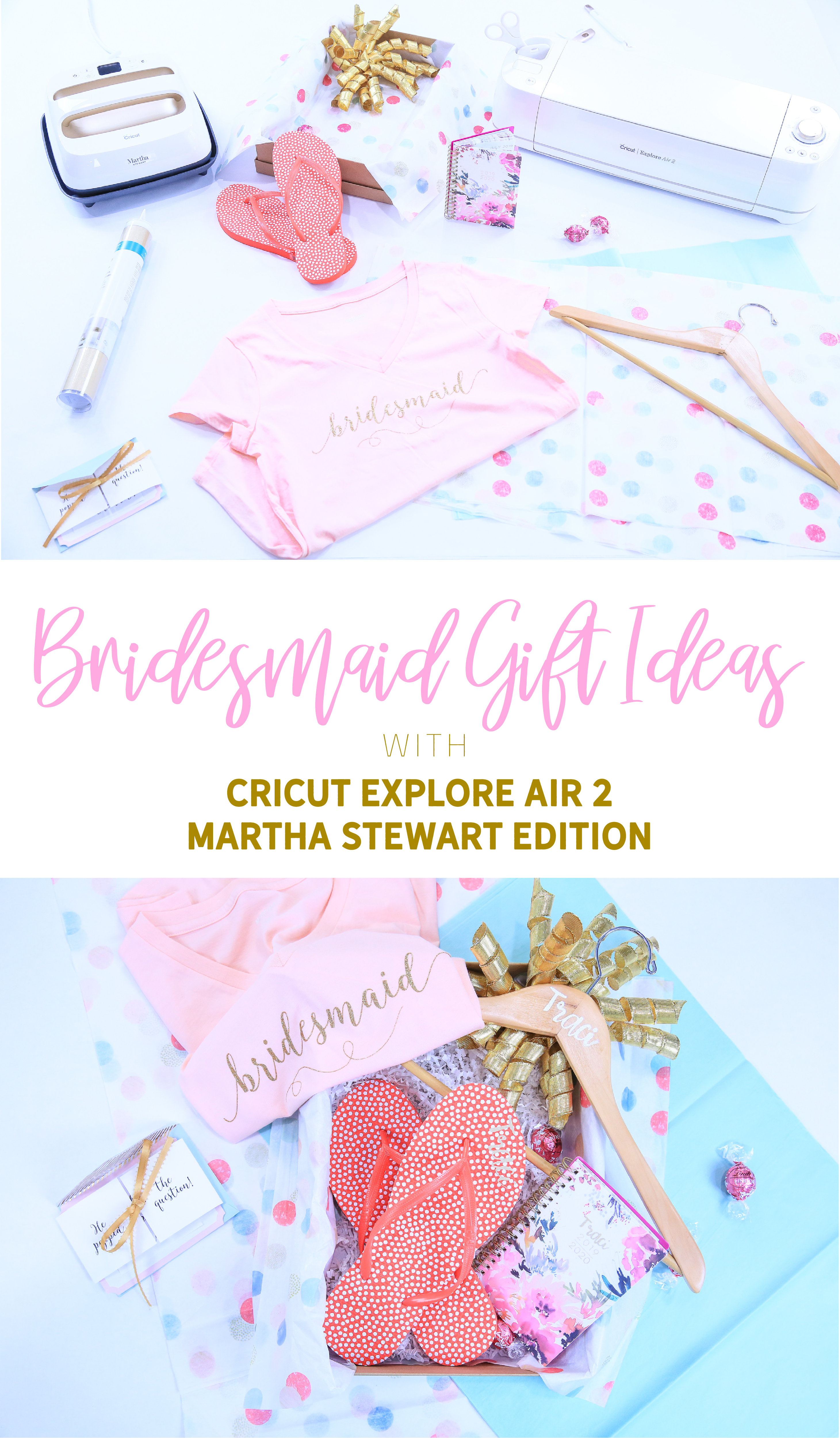 Bridesmaid Gift Ideas with your Cricut | Make your wedding perfectly unique! | Cricut Crafting with Kim Byers at The Celebration Shoppe