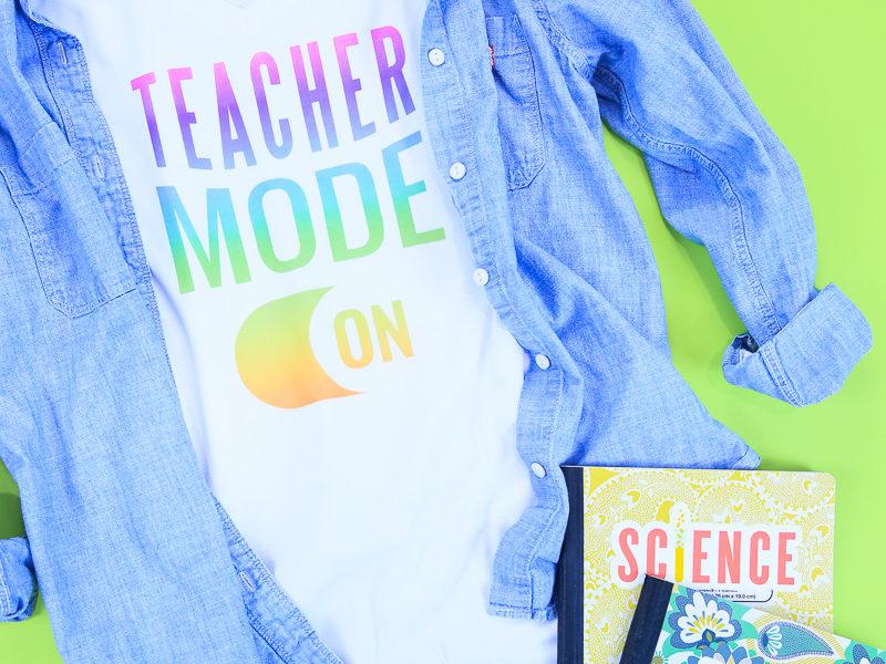 Back To School Tshirt With Cricut Kim Byers