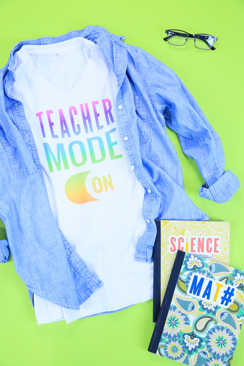 VIDEO - Back To School T-shirt for Teachers with Infusible Ink | Cricut Crafting with Kim Byers