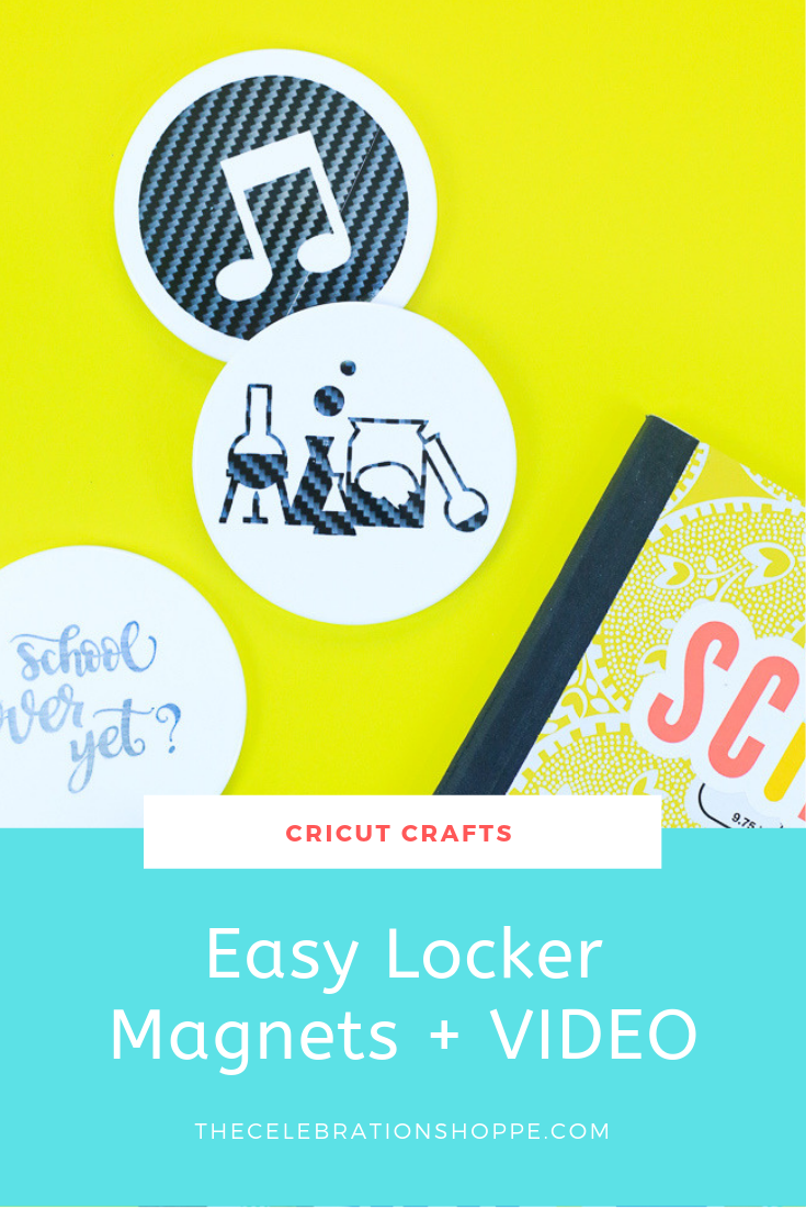 MAKE Cricut Back To School Locker Magnets in minutes! | Cricut crafts with Kim Byers at The Celebration Shoppe