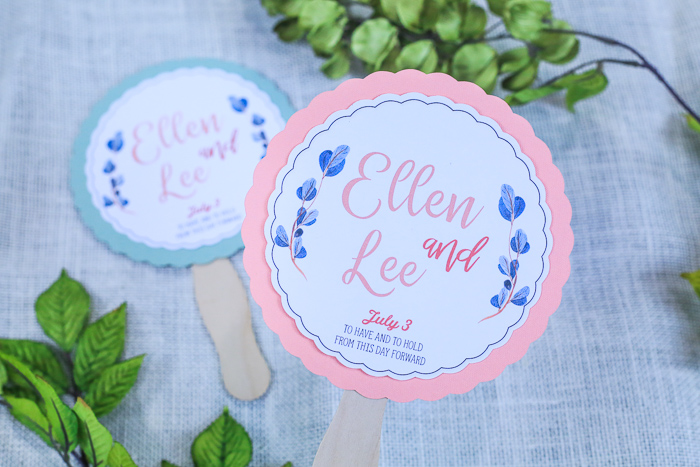 Make DIYWedding Fans with Cricut Print Then Cut   Crafting with Kim Byers at The Celebration Shoppe