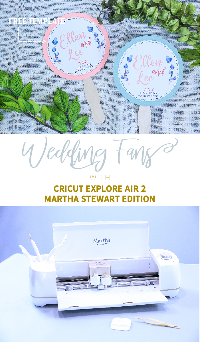 Make Personalized Wedding Fans with Cricut Explore Air 2 Martha Stewart Edition   Crafting with Kim Byers at The Celebration Shoppe