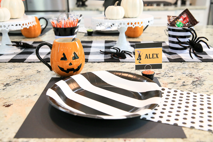 Black White Halloween Party Table Kim Byers