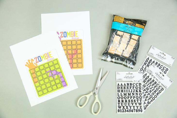 Make Zombie Bingo Game   Free Printables with Kim Byers at The Celebration Shoppe