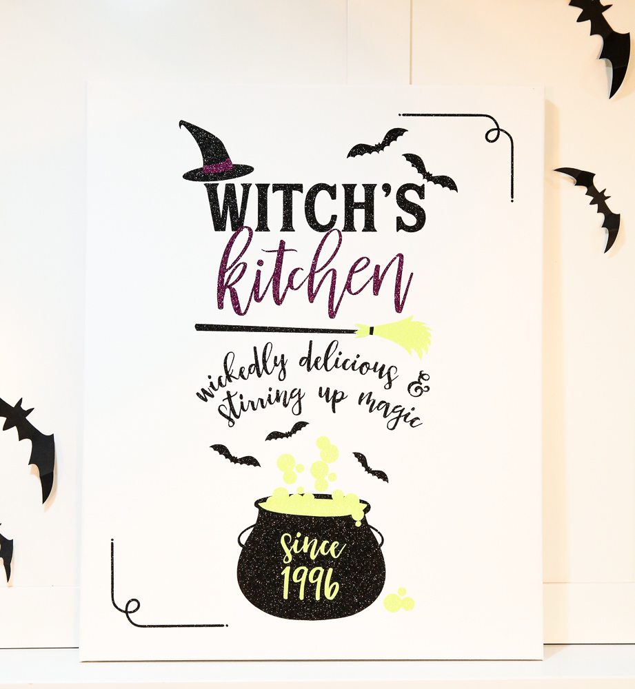 Halloween Kitchen Sign SVG with Cauldron | Cricut Crafting with Kim Byers at The Celebration Shoppe