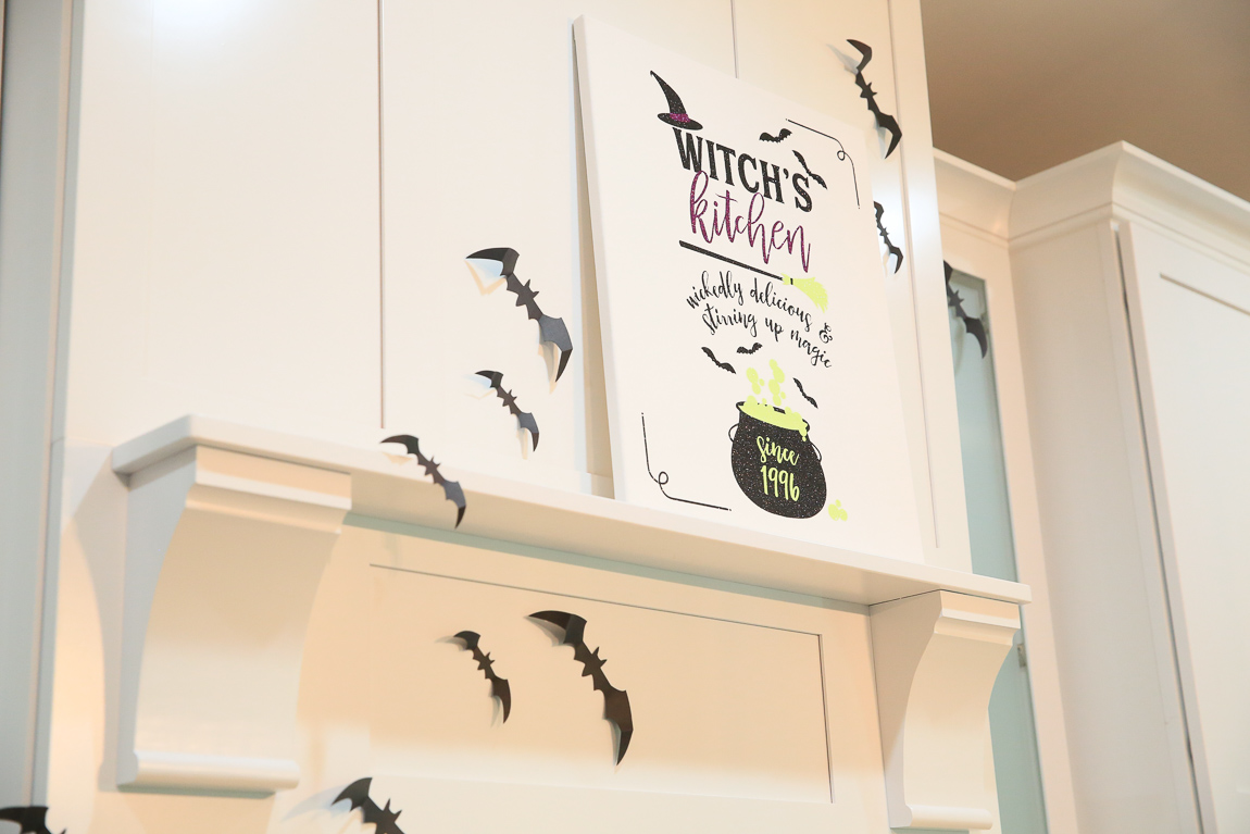 Halloween Kitchen Sign  | Cricut Crafting with Kim Byers at The Celebration Shoppe
