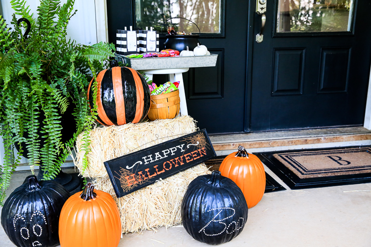 Halloween Front Porch Pumpkins Kim Byers