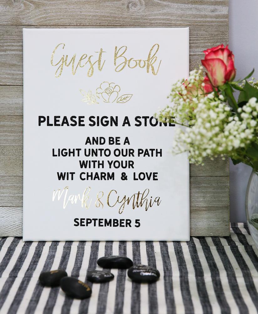 Wedding Guest Book Cricut Kim Byers