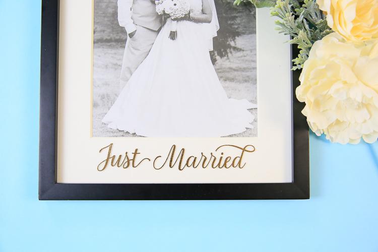 Just Married Keepsake Cricut Kim Byers