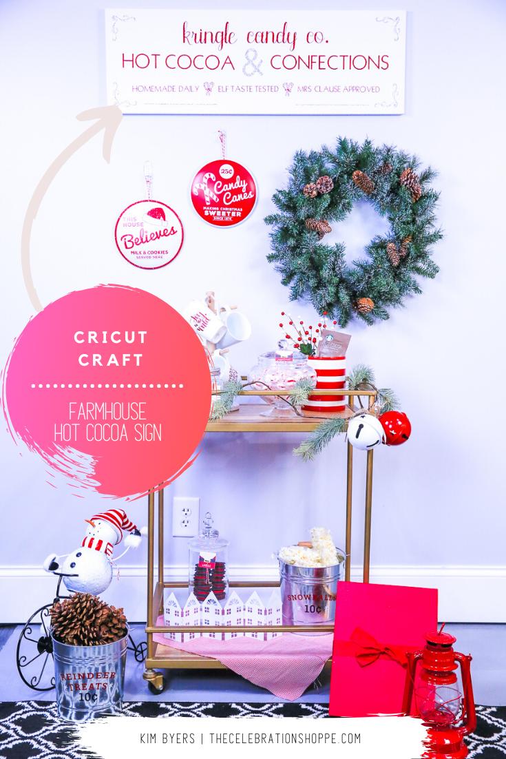 Cricut Hot Cocoa Bar Sign | Kim Byers