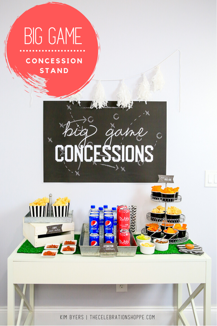FREE PRINTABLES - Big Game Concession Stand Setup & Snack Ideas with Frito Lay and Pepsi. | Party ideas with Kim Byers at The Celebration Shoppe