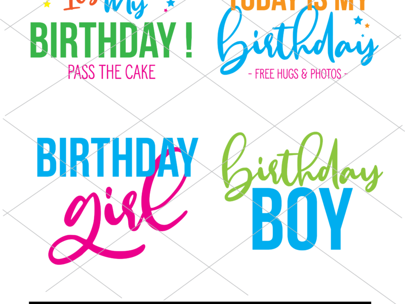 Birthday Svg Bundle Kim Byers