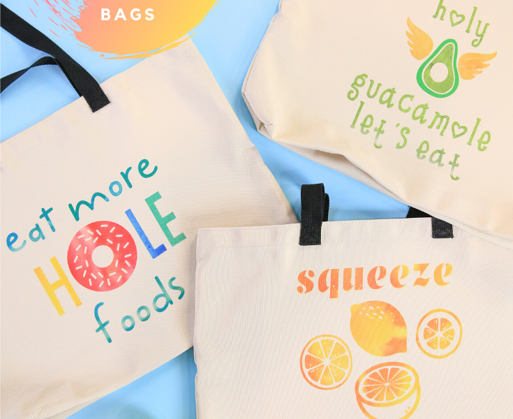 Cricut Infusible Ink Grocery Tote Bags