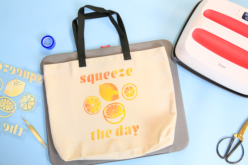 Infusible Ink Tote - Squeeze The Day Lemon Inspired Bag