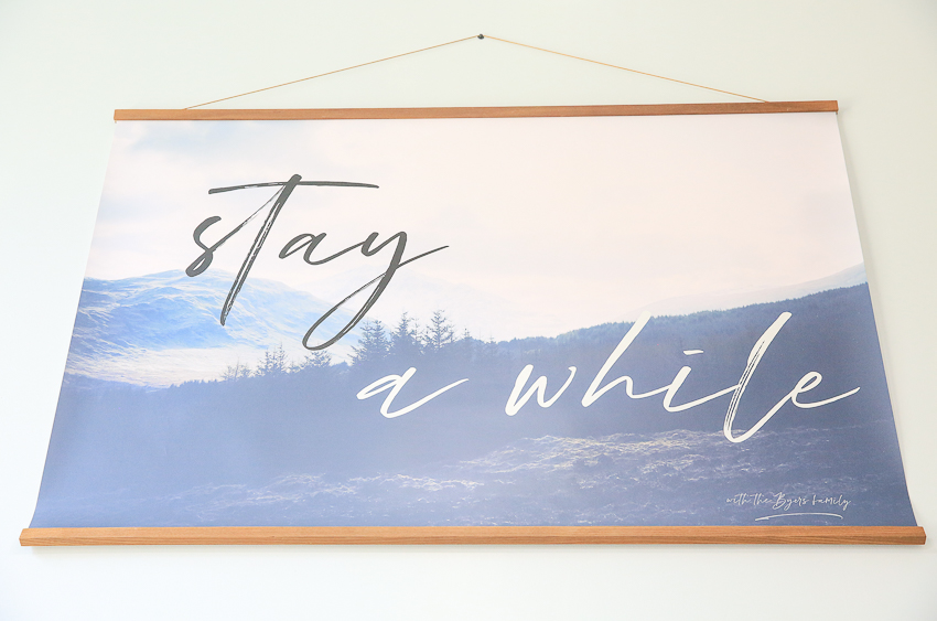 Entryway Stay A While Poster