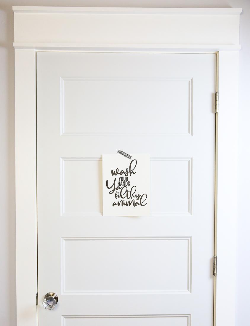 Printable Wash Your Hands Door Sign