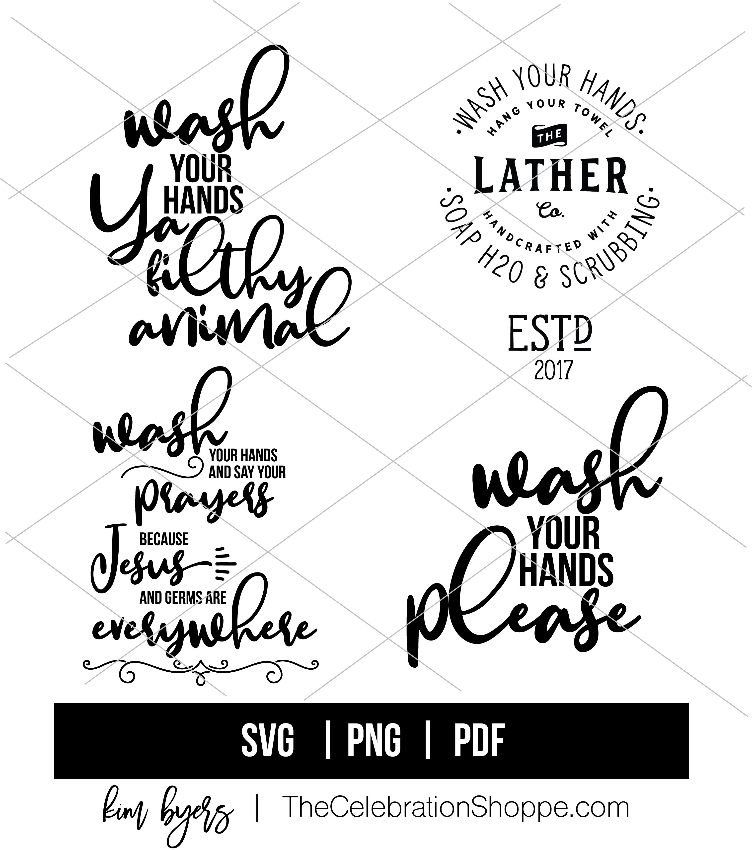 Wash Your Hands SVG Bundle Kim Byers