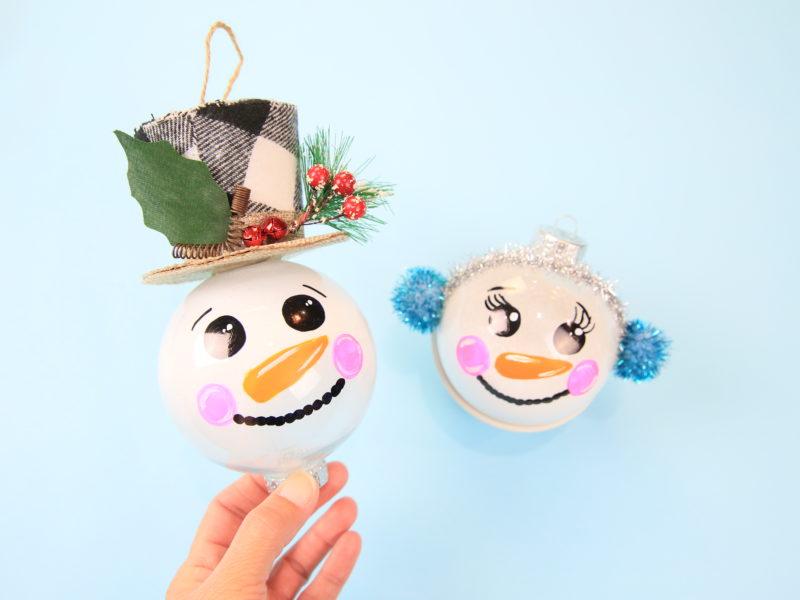 Snowman Ornament Kim Byers